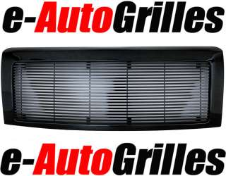 09 11 Ford F150 Black 8mm Complete Billet Grille Shell