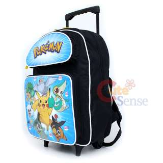 Pokemon School Roller Backpack /Bag 16 L Black & White