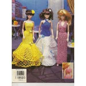 Fashion Doll Even Gowns, 1997 (Leaflet # 870114) Annies Attic Books