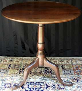 Antique 18th Century Antique Federal Tilt Top Mahogany Side Sofa Table