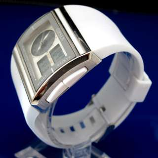 New FASHION OHSEN LED Light Digital Quartz Mens Sport rubber wrist
