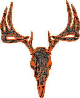 Orange Camo Deer Buck Skull hunting cornhole decal set AWESOME