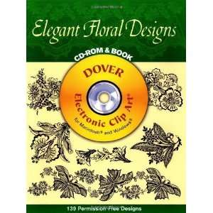 CD ROM and Book (Dover Electronic Clip Art) [Paperback] Dover Books