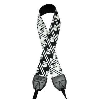 Style Black & White Skull DSLR Camera Neck Strap