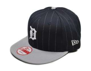 MLB Baseball Snapback Pinsnap2 Detroit Tigers Cap Hat Navy Grey