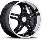 18 inch Ruff Racing 930 Staggered black wheels 5x4.5