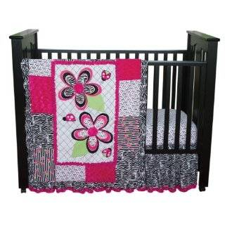 Custom Baby Bedding  Hot Pink Zebra 13 PCS Crib Bedding Baby