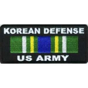KOREAN DEFENSE US ARMY VET MILITARY Biker Vest Patch
