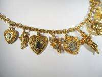 Vintage Kirks Folly Necklace Rhinestones Cherubs CAR 1642