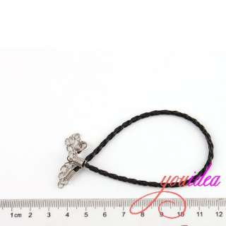 30* Hot European Braided Leather Bracelets Fit Charms