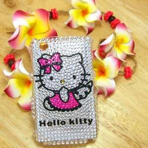 Hello Kitty angel in pink dress Rhinestone Bling Crystal back cover