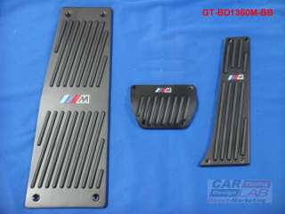 e60 e61 e63 e64 F10 X5 E70 M5 M6 Auto ALUMINUM BLACK PEDALS PAD COVERS