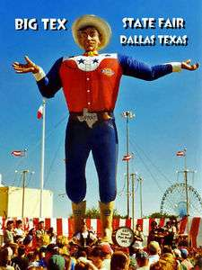 MAGNET Travel Big Tex State Fair Dallas Texas Sign