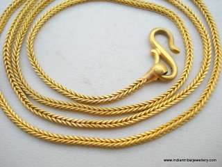 22k gold chain necklace vintage antique old handamde