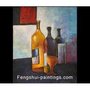 Wine Painting, Still Life Painting, Oil Painting, Canvas Art