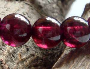 High Quality Natural Garnet Bracelet Round beads 7.5mm