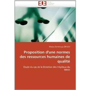 Proposition dune norme des ressources humaines de