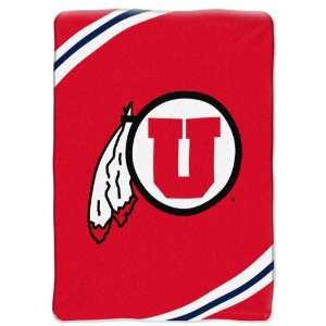 NCAA Utah Utes FORCE 60x80 Super Plush Throw  Sports