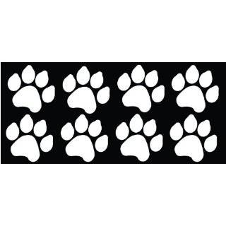 Dog Paw Prints Sticker White   Dogs, Puppy, Pooch Lover