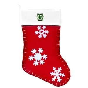 Felt Christmas Stocking Red Shamrock Pub Luck of the Irish