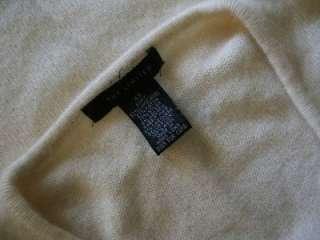 Womens XS Cream Ivory Sequin WOOL Cashmere Angora V Neck Sweater