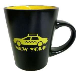 New York black mug New York Taxi Cab 12 Oz Mug with black