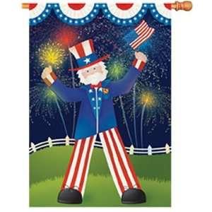 Uncle Sams Big Day House Flag Patio, Lawn & Garden