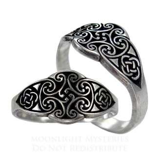 Irish Goddess Dana Celtic Knot Ring SS Sterling Silver Band sz 4 12
