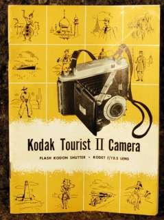 1950s KODAK TOURIST II Folding Camera MINT IN ORGINAL BOX with MANUAL
