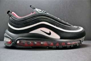 Nike Wmns Air Max 97 Sz 12 Black Varsity Red Retro 312461 006