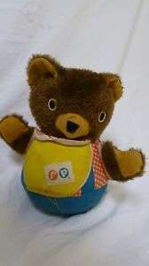 Vintage Fisher Price Baby Cub Chime Teddy Bear