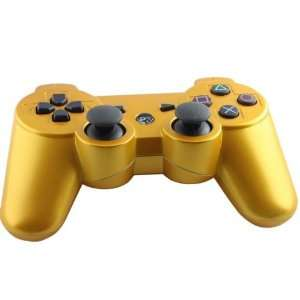 Gold Color 6 AXIS Wireless Bluetooth Controller for Sony