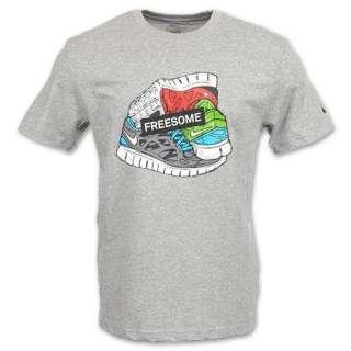 NIKE FREESOME Mens Grey Running Dri Fit Tee T Shirt S M XL XXL