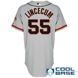 San Francisco Giants Authentic 2012 Tim Lincecum Road 2 Cool Base