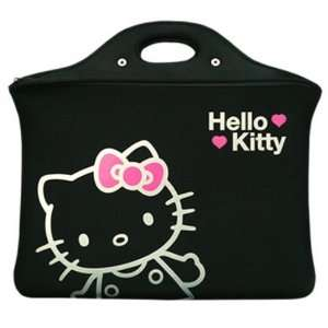 Auth Hello Kitty Laptop 15 Notebook Hand Bag Black