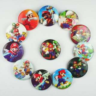 Mario Buttons Pins Badges Boys Girls Birthday Party Gifts 1.2