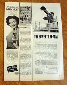 1950 RC Royal Crown Cola Ad Movie Star Wanda Hendrix