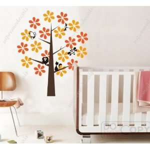Free Custom Color   Free Squeegee  Colorful flower tree(four different