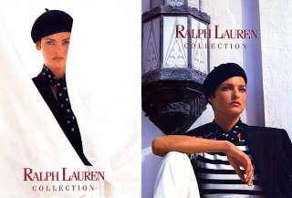1990 Ralph Lauren Kim Nye Evangelista 8 pg magazine ad