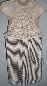 French Laundry Tank Top Blouse Shirt Sz L Large NEW Black and White