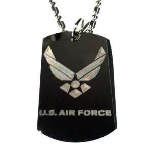 States of America AIR Force USAF Logo   Military Dog Tag Luggage Tag