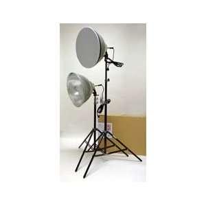 RPS Studio 16in Dual Light Kit w/Stands, Bulbs Camera