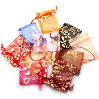 50 x Organza Jewelry Gift Pouch Bags 7x9cm Mixed Color