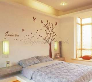 Lovely tree    62.5 inch tall    Wall Art Home Decors Murals Removable