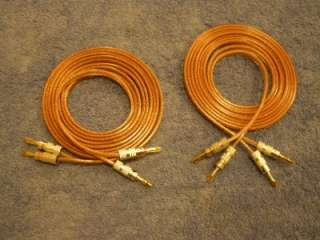 High End Speaker Wire 10 foot pair audiophile Nakamichi gold banana