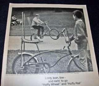 1969 AD HUFFY WHEEL BIKE HUFFY RAIL BIKE 5 SPEED
