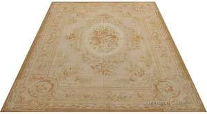 COUNTRY FRENCH ROSE AUBUSSON AREA RUG ~ ANTIQUE PASTEL COLORS