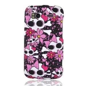 GIRL SKULL Design Faceplate Cover Sleeve Case for HTC SENSATION 4G (T