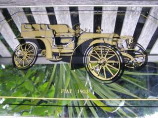 VINTAGE ANTIQUE 1903 FIAT AUTOMOBILE CAR WALL MIRROR