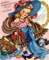 Vintage Refrigerator Magnet Birthday Granddaughter V2